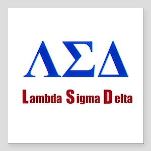 "Lambda Sigma Delta Square Car Magnet 3"" x 3"""