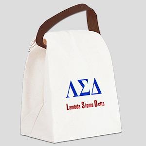 Lambda Sigma Delta Canvas Lunch Bag