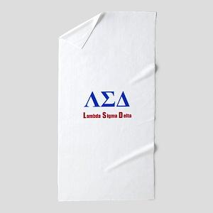 Lambda Sigma Delta Beach Towel