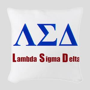 Lambda Sigma Delta Woven Throw Pillow