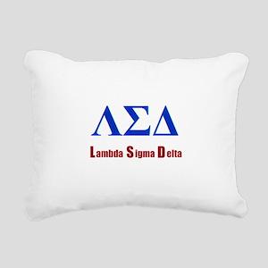 Lambda Sigma Delta Rectangular Canvas Pillow