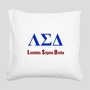 Lambda Sigma Delta Square Canvas Pillow