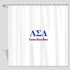 Lambda Sigma Delta Shower Curtain