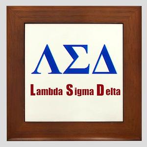 Lambda Sigma Delta Framed Tile