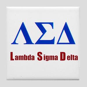 Lambda Sigma Delta Tile Coaster