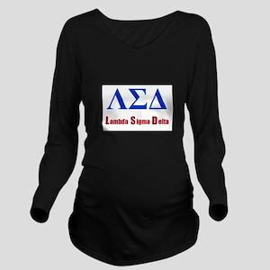 Lambda Sigma Delta Long Sleeve Maternity T-Shirt