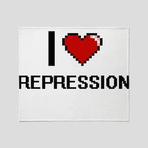 I Love Repression Digital Design Throw Blanket