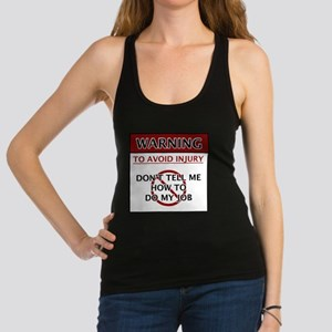 Warning_Job Racerback Tank Top