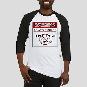 Warning_Job Baseball Jersey
