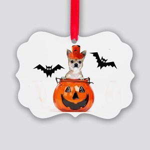 Halloween Chihuahua dog Picture Ornament