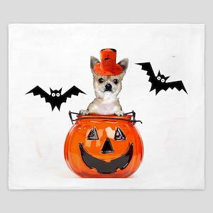 Halloween Chihuahua dog King Duvet