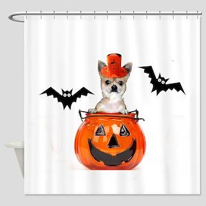 Halloween Chihuahua dog Shower Curtain
