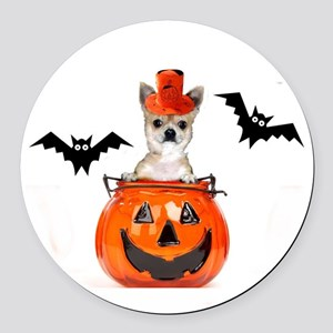 Halloween Chihuahua dog Round Car Magnet