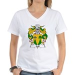 Coll Family Crest Women's V-Neck T-Shirt
