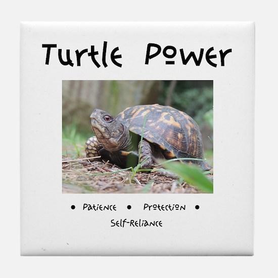 Turtle Power Animal Medicine Tile Coaster