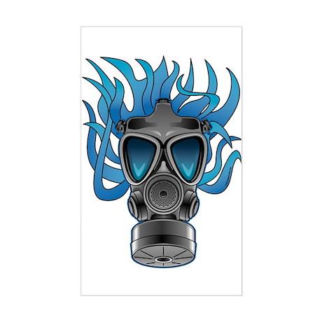 Gas Mask Blue @ eShirtLabs Rectangle Sticker