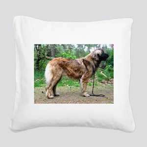 leonberger full Square Canvas Pillow