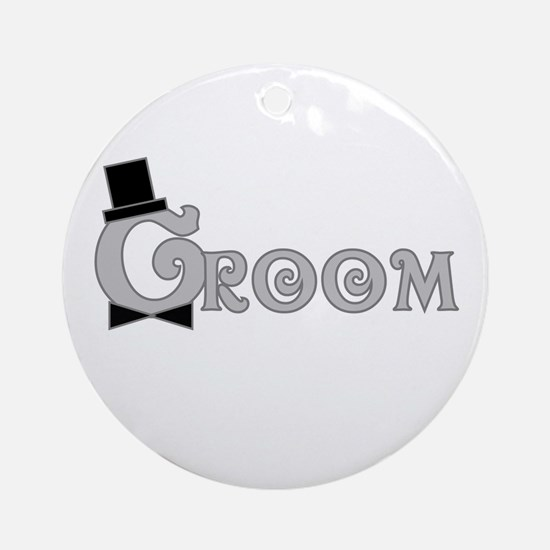 Dressed Up Groom Ornament (Round)
