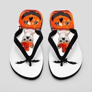 Halloween Chihuahua Flip Flops