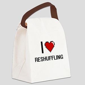 I Love Reshuffling Digital Design Canvas Lunch Bag