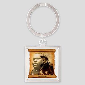 M. Garvey Square Keychain