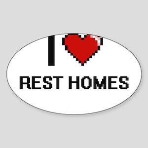I Love Rest Homes Digital Design Sticker