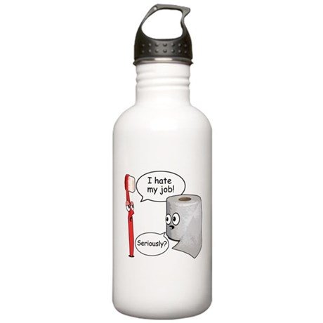 Funny Sayings I Hate My Job Water Bottle By Superfunnyshirts
