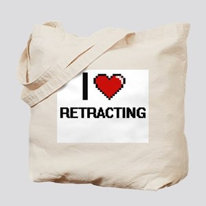 I Love Retracting Digital Design Tote Bag