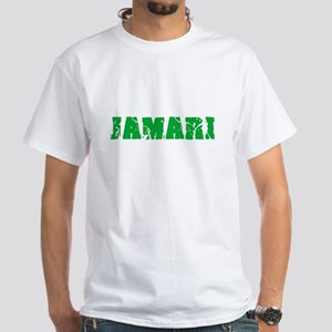 Jamari Name Weathered Green Design T-Shirt