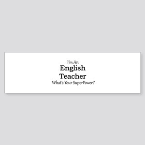 English Teacher Bumper Sticker