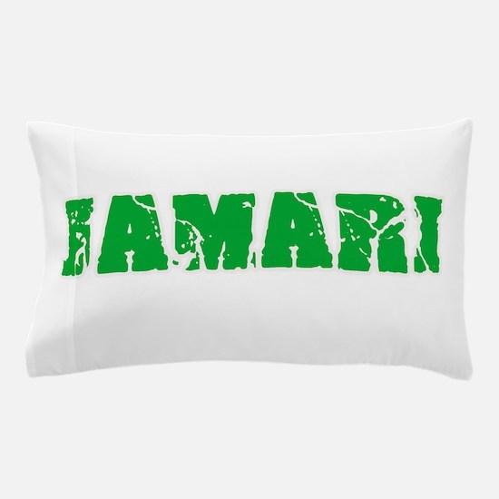 Jamari Name Weathered Green Design Pillow Case