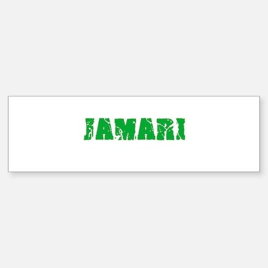 Jamari Name Weathered Green Design Bumper Bumper Bumper Sticker