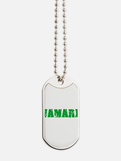 Jamari Name Weathered Green Design Dog Tags