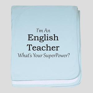 English Teacher baby blanket
