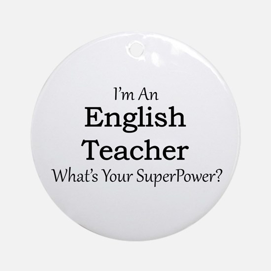 English Teacher Round Ornament
