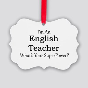 English Teacher Picture Ornament