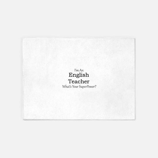 English Teacher 5'x7'Area Rug
