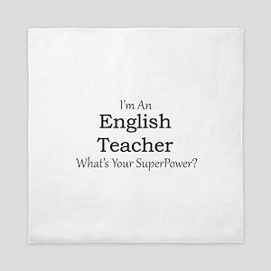 English Teacher Queen Duvet