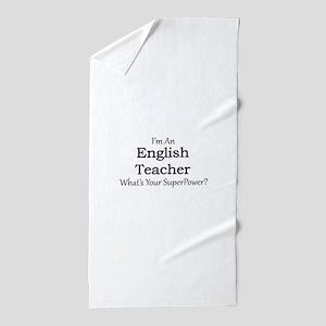 English Teacher Beach Towel