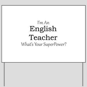 English Teacher Yard Sign
