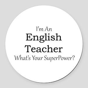 English Teacher Round Car Magnet