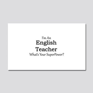 English Teacher Car Magnet 20 x 12