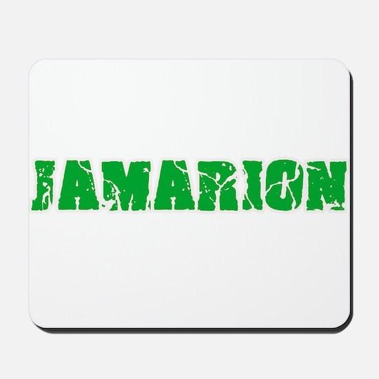 Jamarion Name Weathered Green Design Mousepad