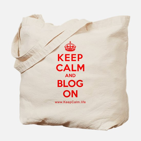 Cute Keep calm and blog on Tote Bag