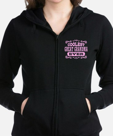 Coolest Great Grandma Ever Women's Zip Hoodie