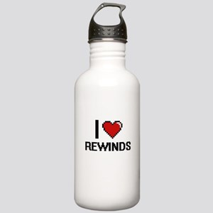 I Love Rewinds Digital Stainless Water Bottle 1.0L