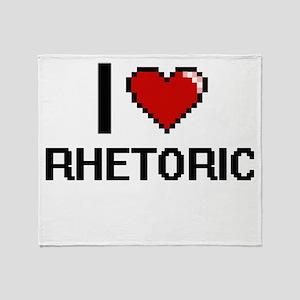 I Love Rhetoric Digital Design Throw Blanket