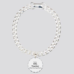 ESL Teacher Charm Bracelet, One Charm
