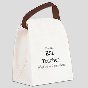 ESL Teacher Canvas Lunch Bag