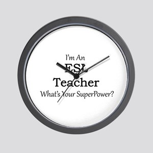 ESL Teacher Wall Clock